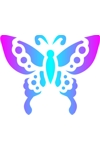 Sponge Painting Stencil- Butterfly