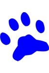 Sponge Painting Stencil- Paw