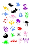 Sponge Painting Stencil- Set of all 24 Stencils