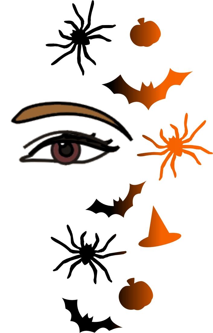Stencileyes Black Widow Art Supplies Drawing Halloween Face